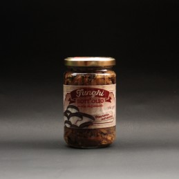 Funghi Pleurotus sott'olio